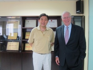 Mr. Fan Zhi, General Manager, Taikong with GWCIC President Bill Black